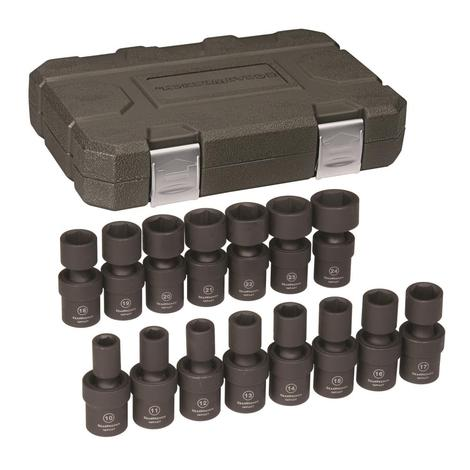 GearWrench Universal Impact Socket Set, 15 pc. 1/2 In. Drive 6 Point Metric