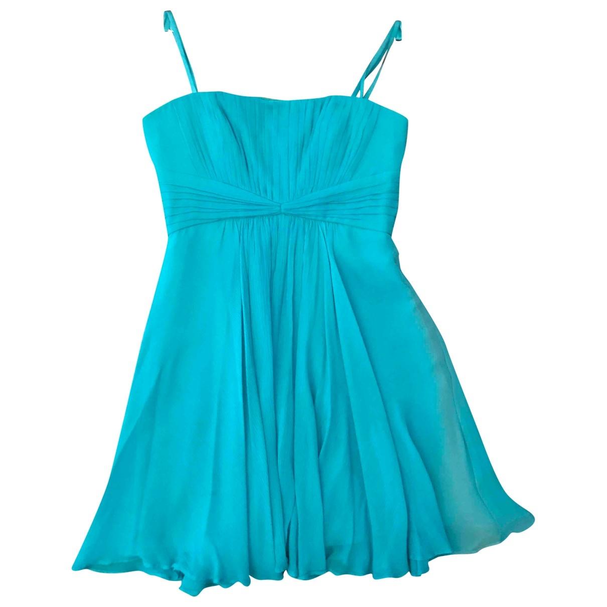 Bcbg Max Azria \N Turquoise Silk dress for Women 4 US
