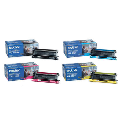 TN-110 Original Toner Cartridge Combo BK/C/M/Y