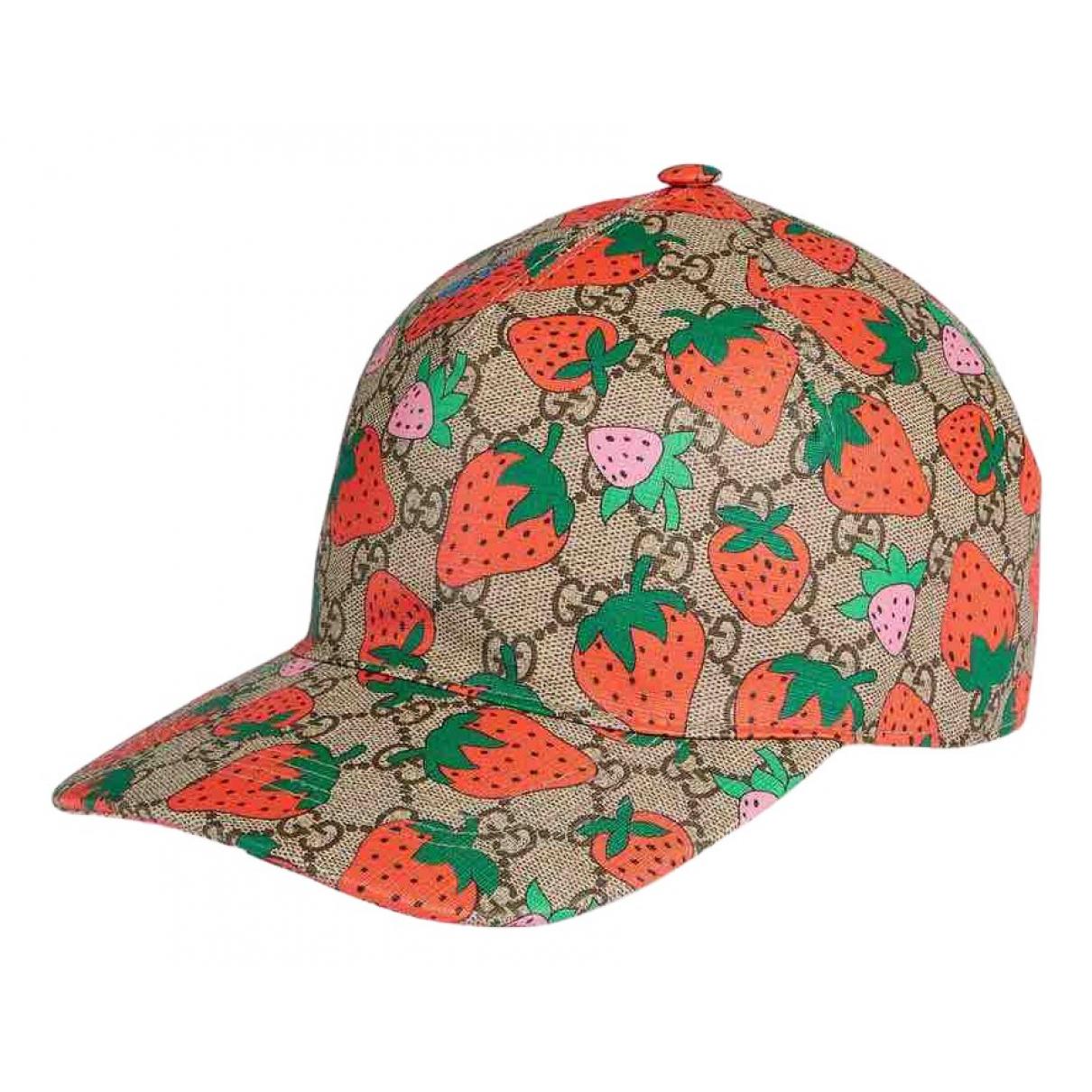 Gucci - Chapeau & Bonnets   pour homme en cuir - beige