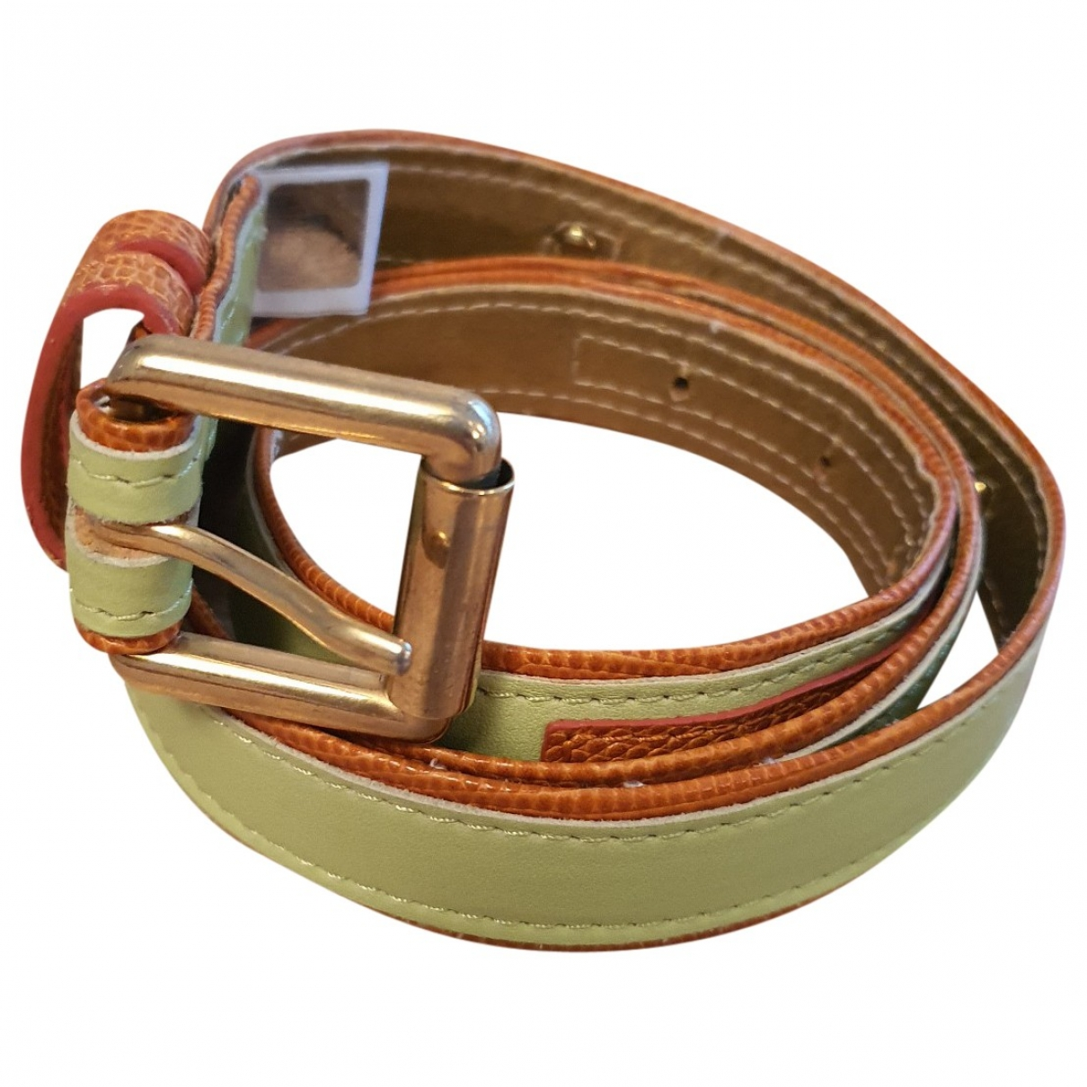 Dolce & Gabbana \N Green Leather belt for Women 85 cm