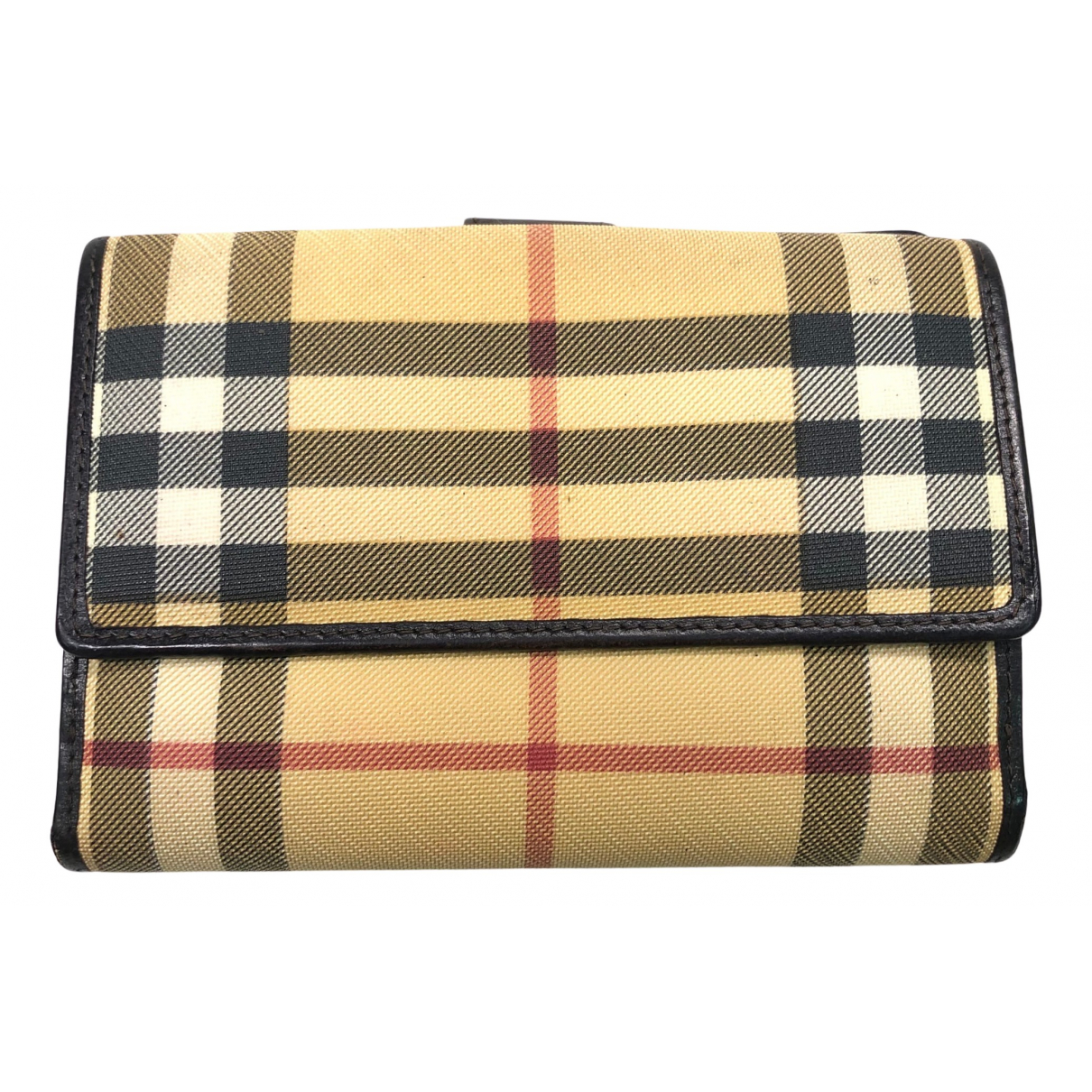 Burberry N Beige Cloth wallet for Women N