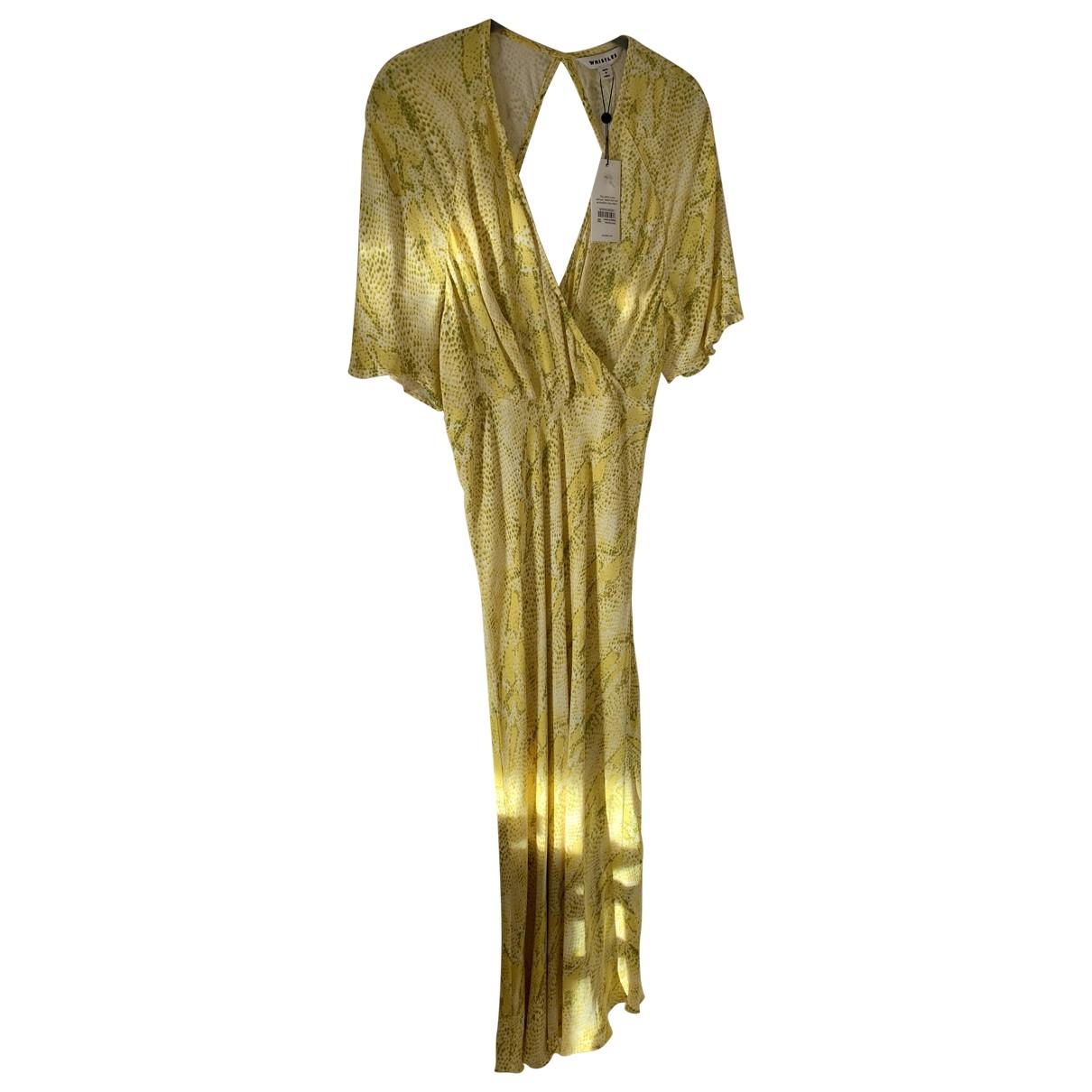 Whistles \N Kleid in  Gelb Viskose