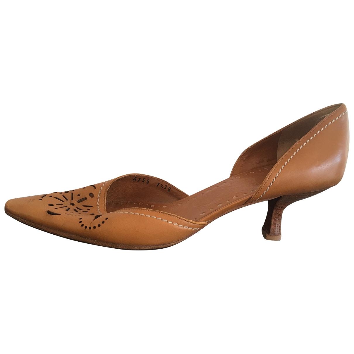 Salvatore Ferragamo \N Brown Leather Heels for Women 7.5 US