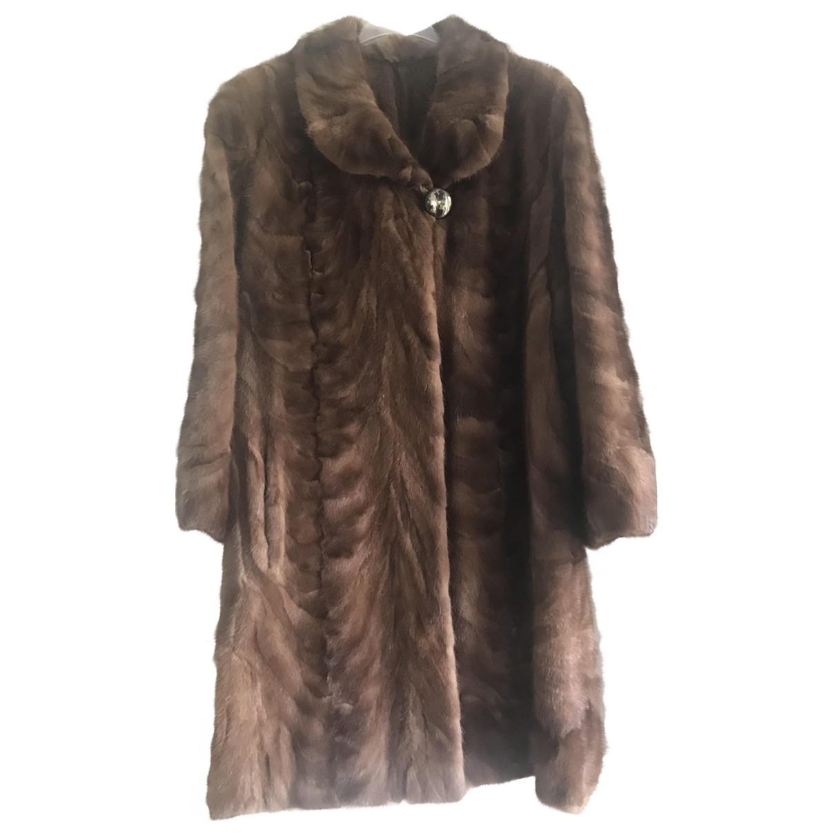 - Manteau   pour femme en vison - camel