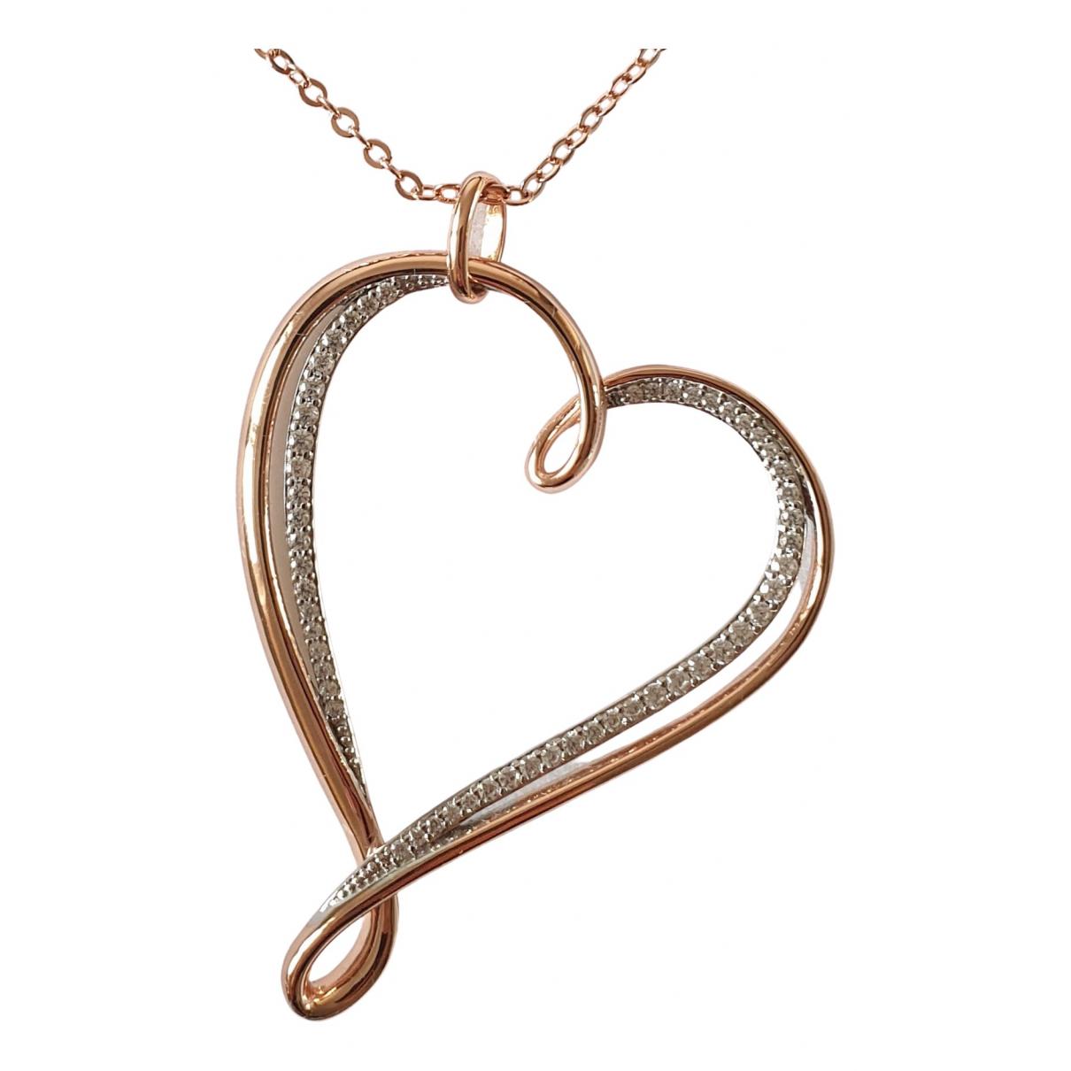 - Collier Motifs Coeurs pour femme en acier - rose
