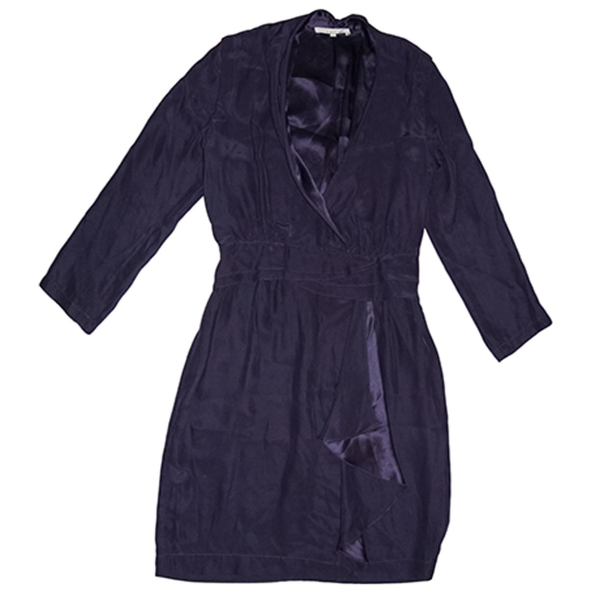 Sandro - Robe   pour femme en soie - violet