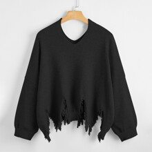 Pullover mit V-Kragen