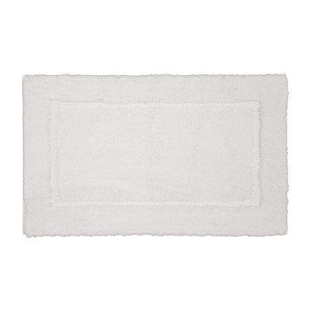 Liz Claiborne Signature Plush Bath Rug, One Size , White