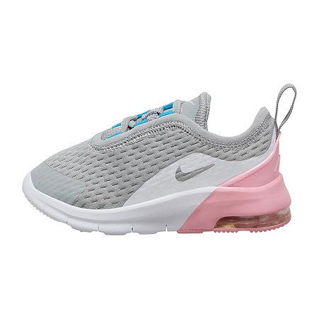 Nike Air Max Motion 2 Toddler Girls Running Shoes, 8 Medium, Gray
