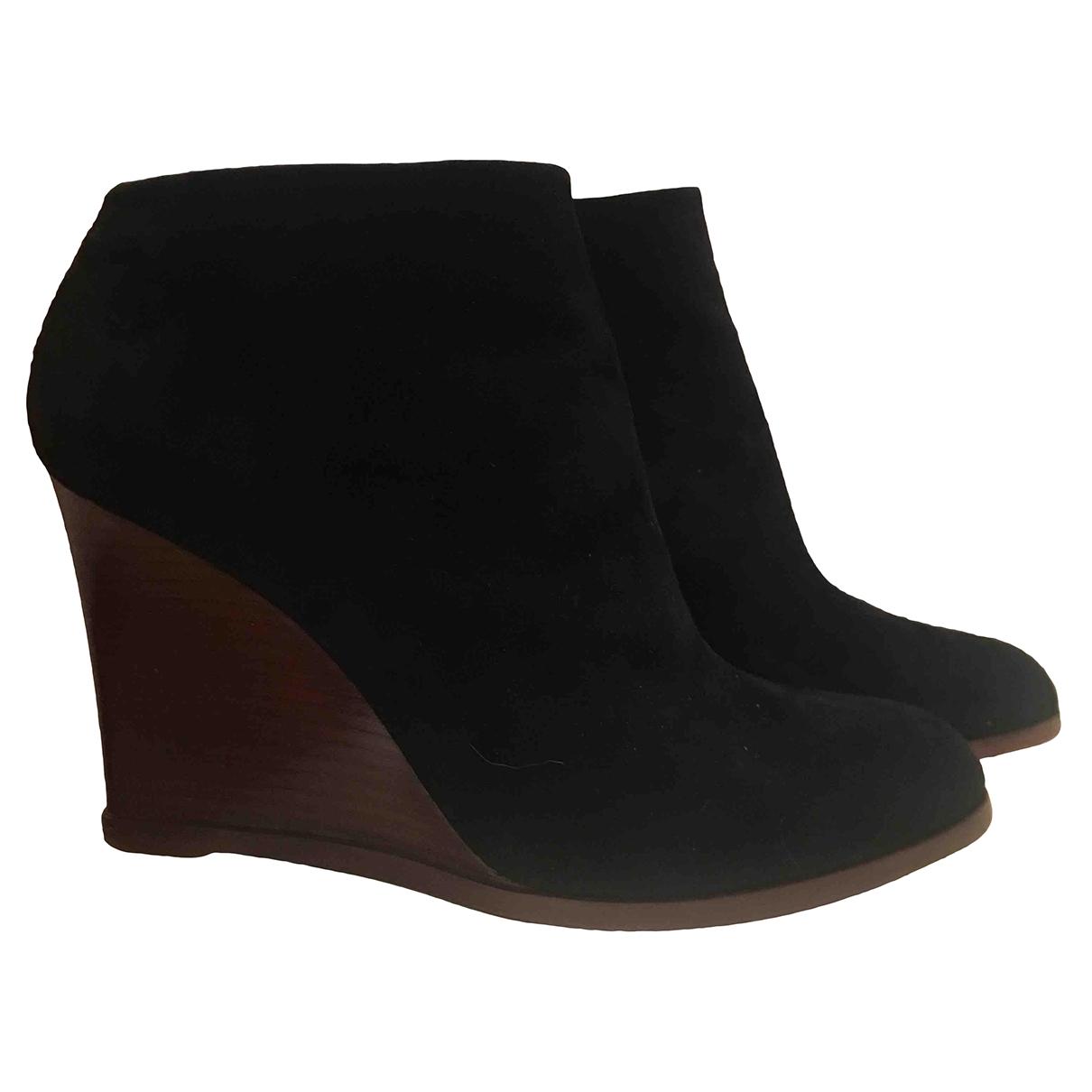 Celine - Boots   pour femme en suede - noir