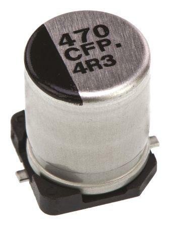 Panasonic 470μF Electrolytic Capacitor 16V dc, Surface Mount - EEEFP1C471AP (5)
