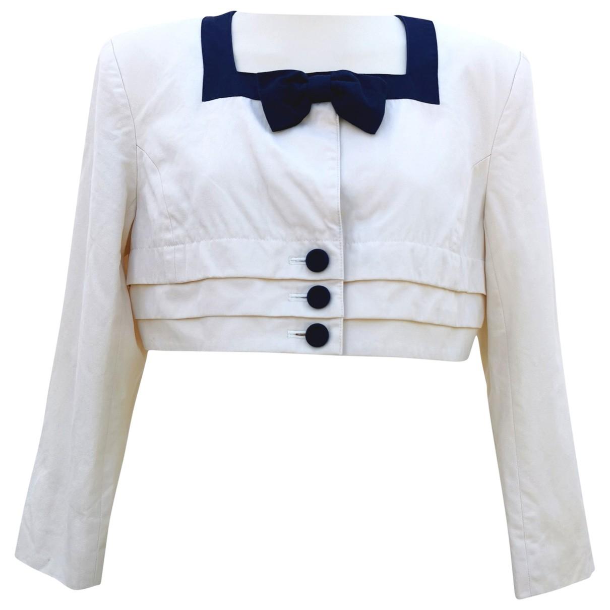 Courrèges \N White Cotton jacket for Women 42 IT