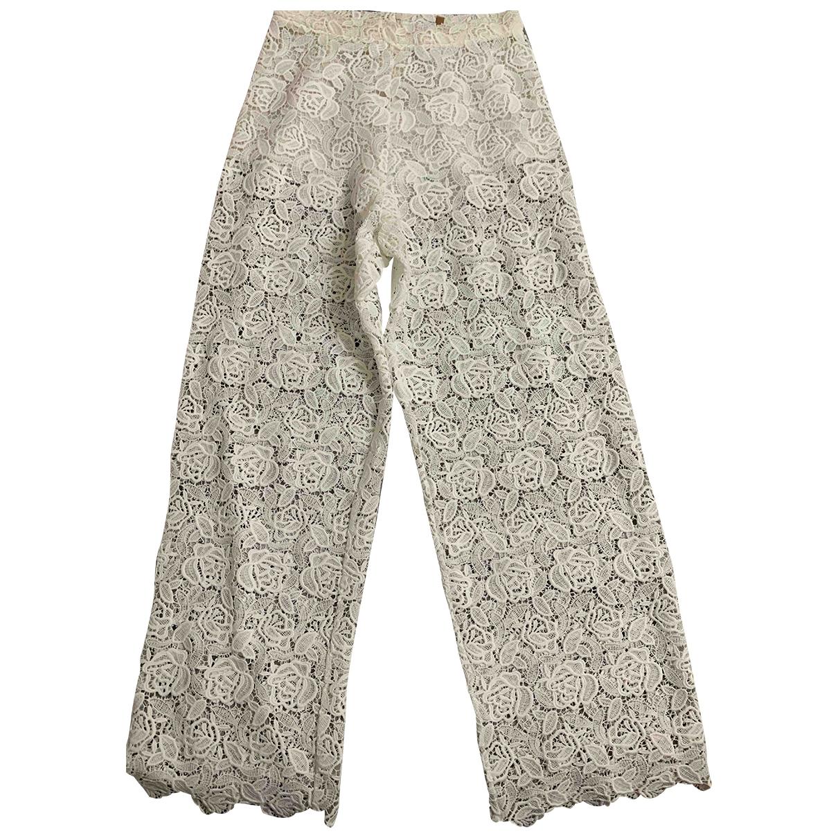 Ermanno Scervino - Pantalon   pour femme - blanc