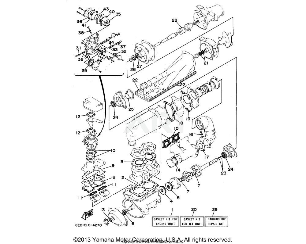 Yamaha OEM 61X-13621-A0-00 GASKET, VALVE SEAT