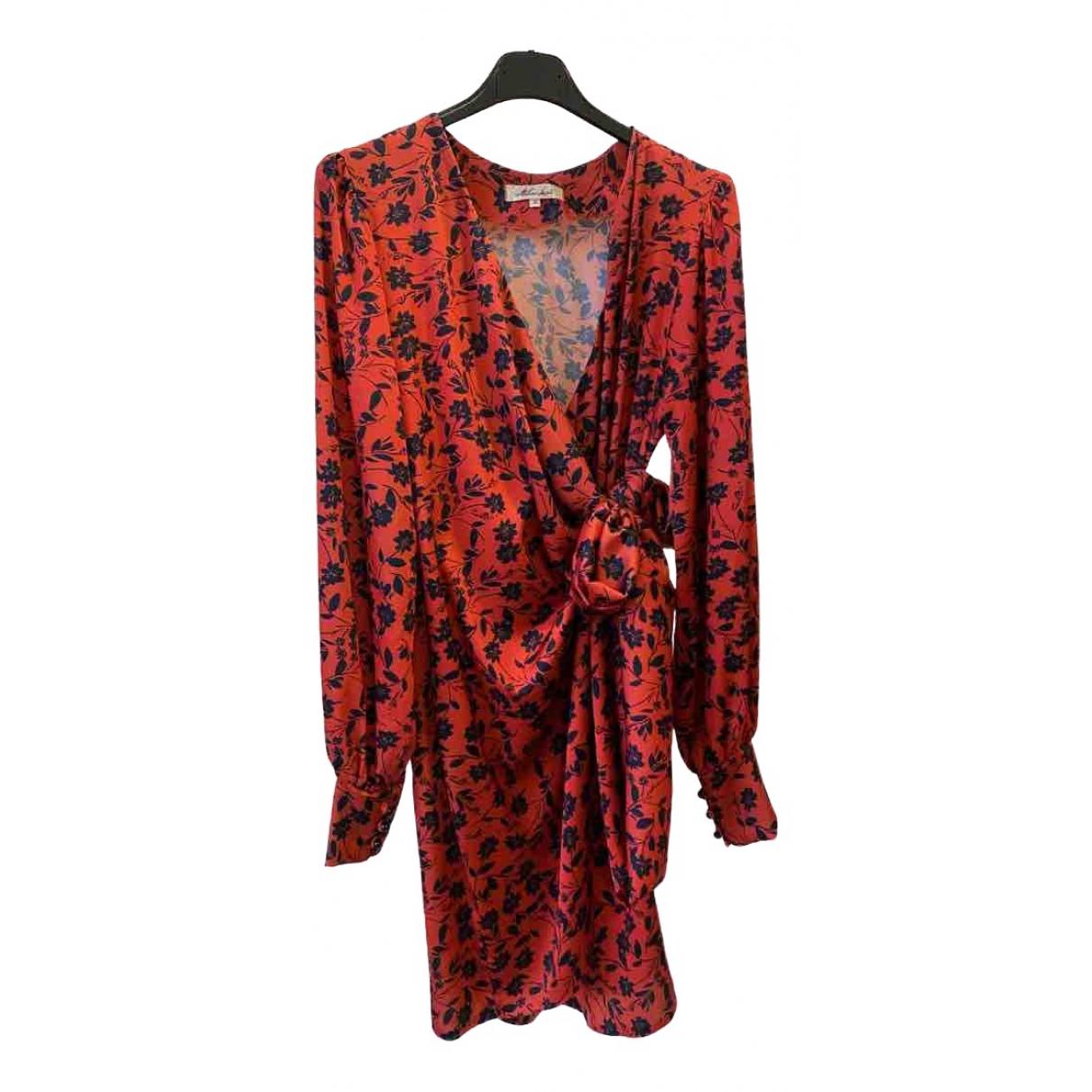- Robe   pour femme en soie - orange