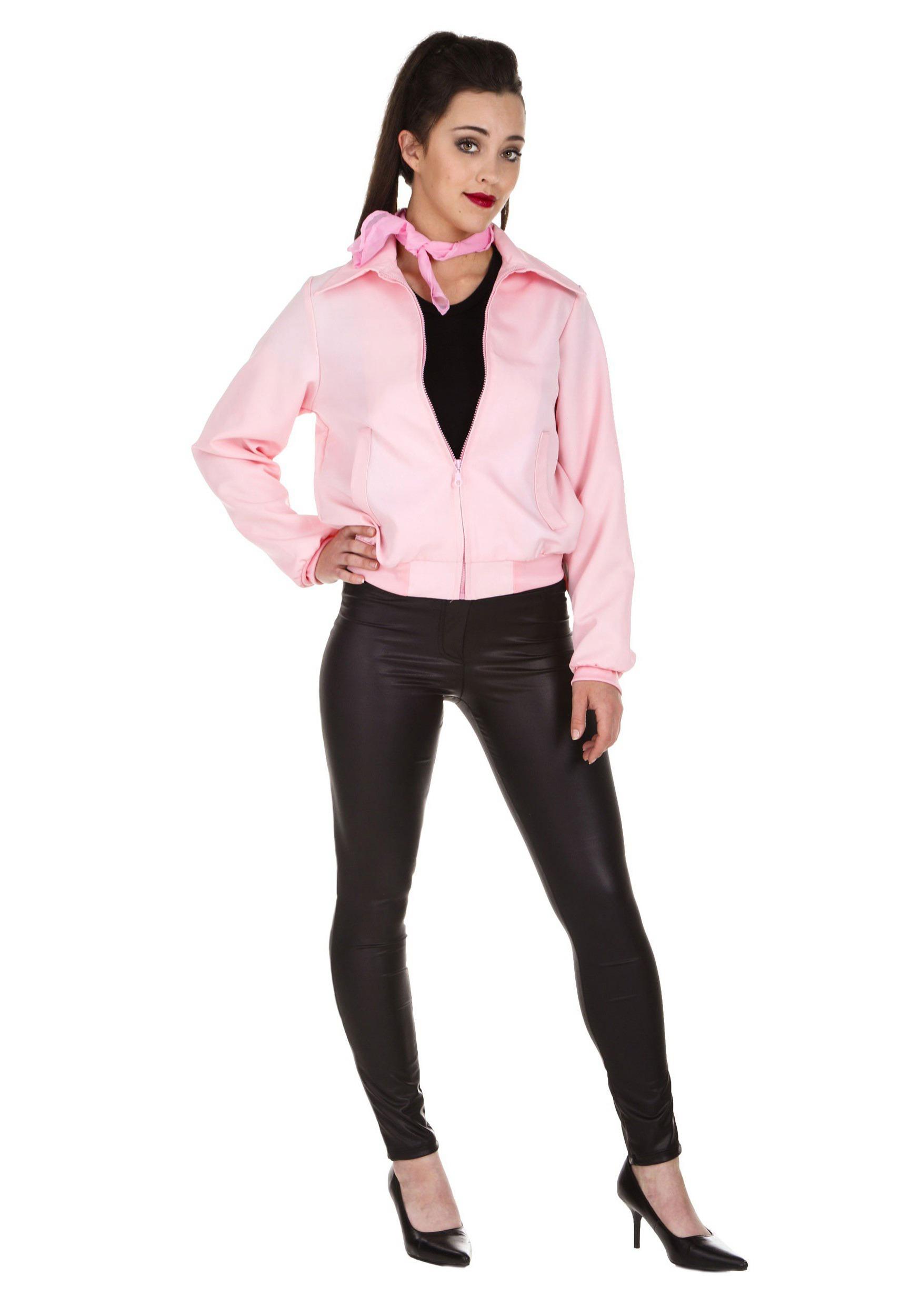 Deluxe Pink Ladies Jacket Costume for Women