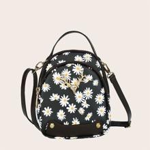 Tasche mit Hirsch Dekor und Gaensebluemchen Grafik
