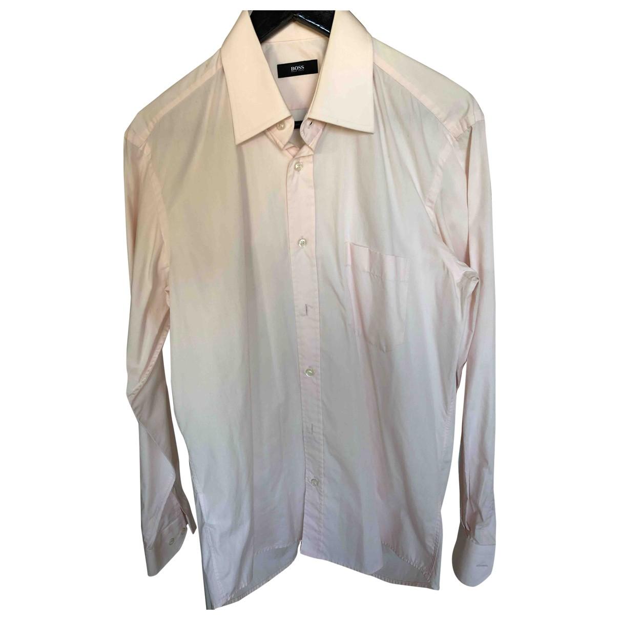 Boss - Chemises   pour homme en coton - rose