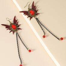 Butterfly Decor Long Chain Drop Earrings