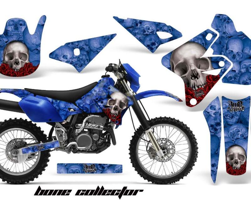 AMR Racing Dirt Bike Graphics Kit Decal Sticker Wrap For Suzuki DRZ400S 2000-2018áBONES BLUE