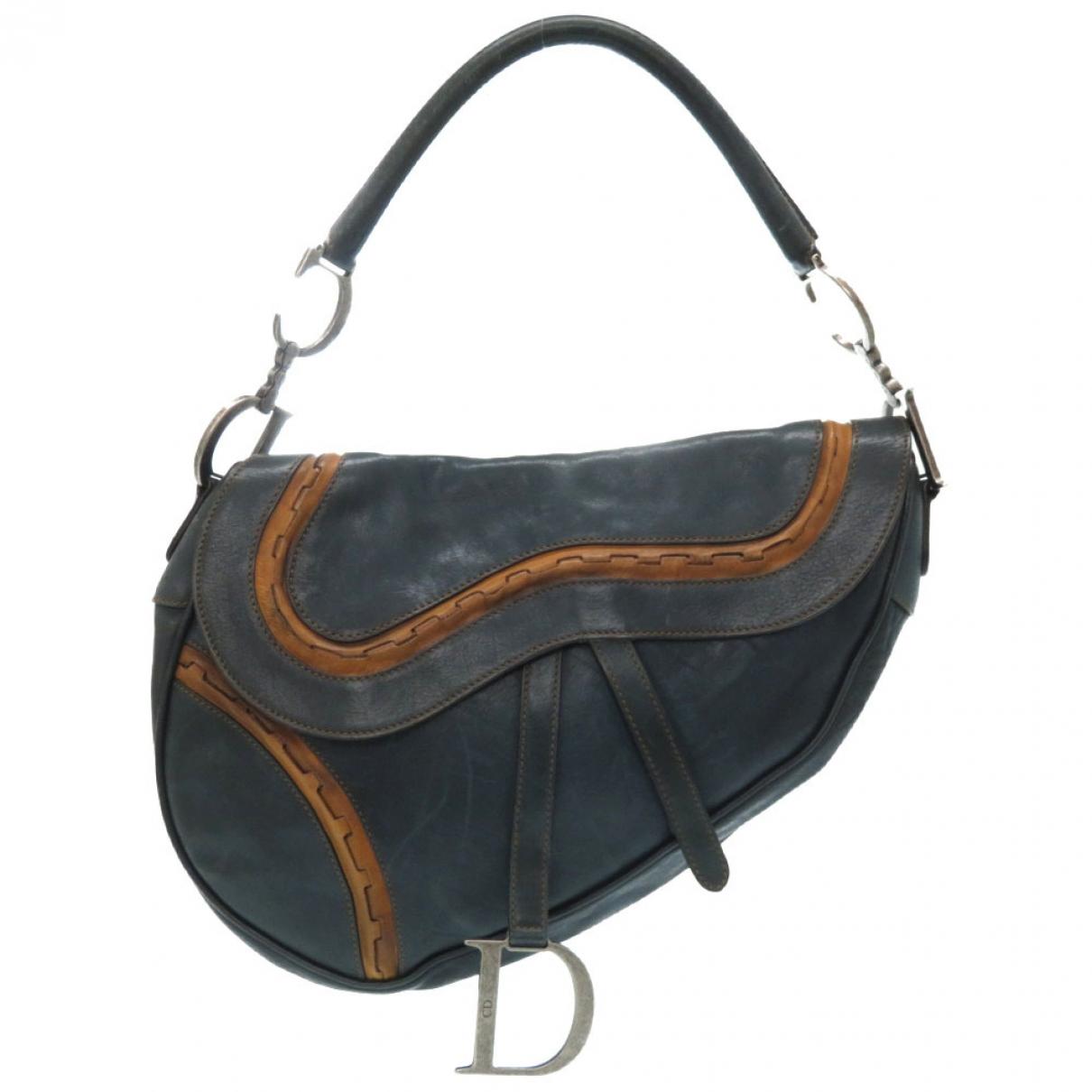 Dior Saddle Green Leather handbag for Women \N