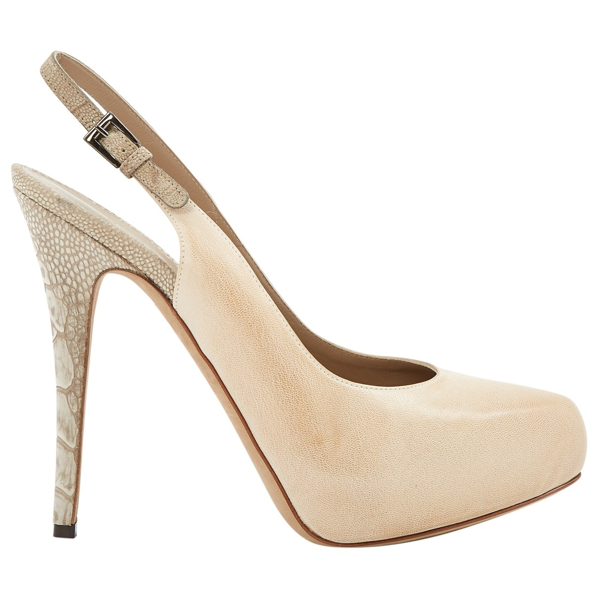 Barbara Bui \N Beige Leather Heels for Women 39 EU