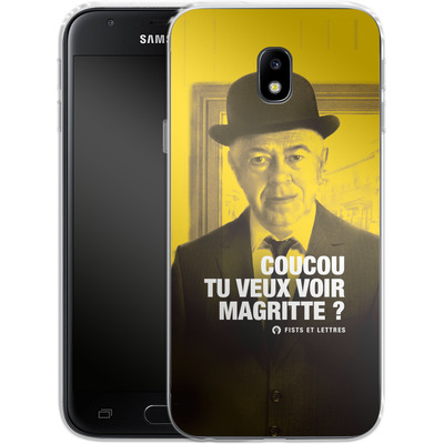 Samsung Galaxy J3 (2017) Silikon Handyhuelle - Tu Veux Voir Magritte von Fists Et Lettres