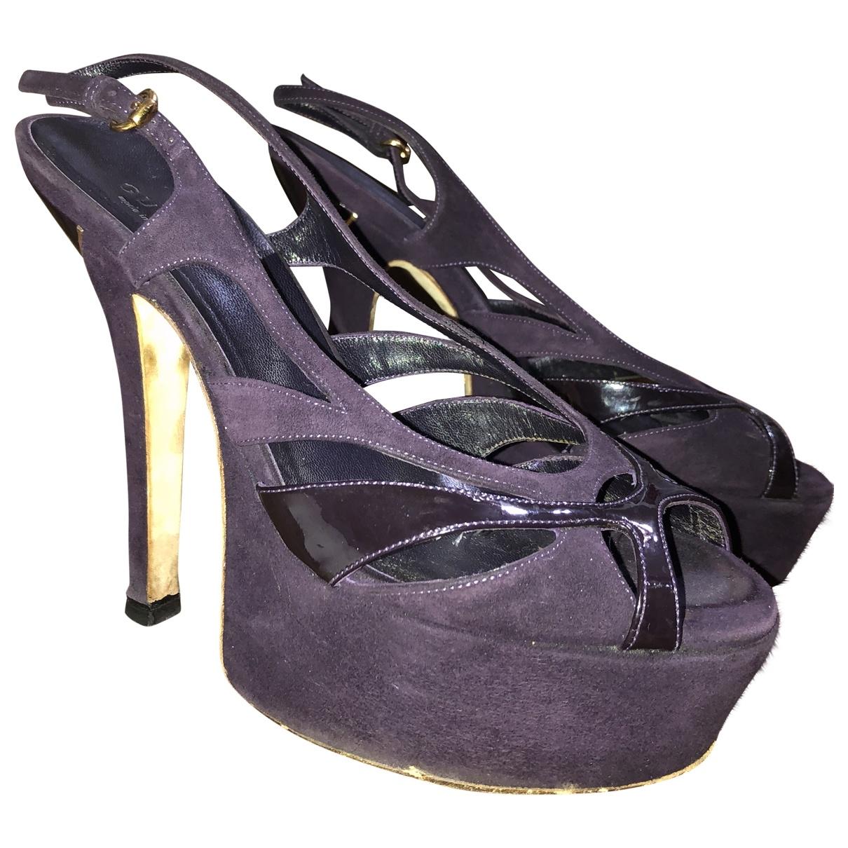 Gucci - Sandales   pour femme en suede - violet