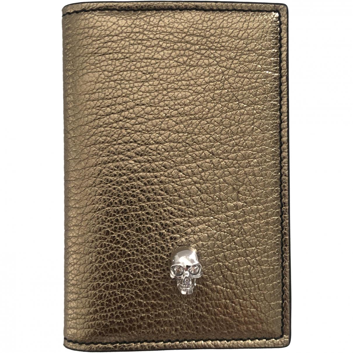 Alexander Mcqueen \N Portemonnaie in  Gold Leder