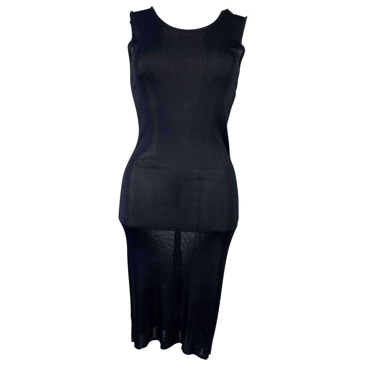 Yves Saint Laurent \N Kleid in  Schwarz Polyester