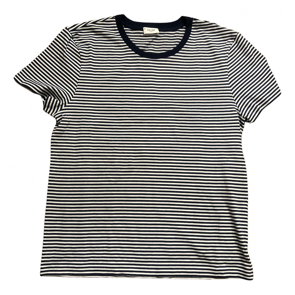 Celine \N Multicolour Cotton T-shirts for Men L International