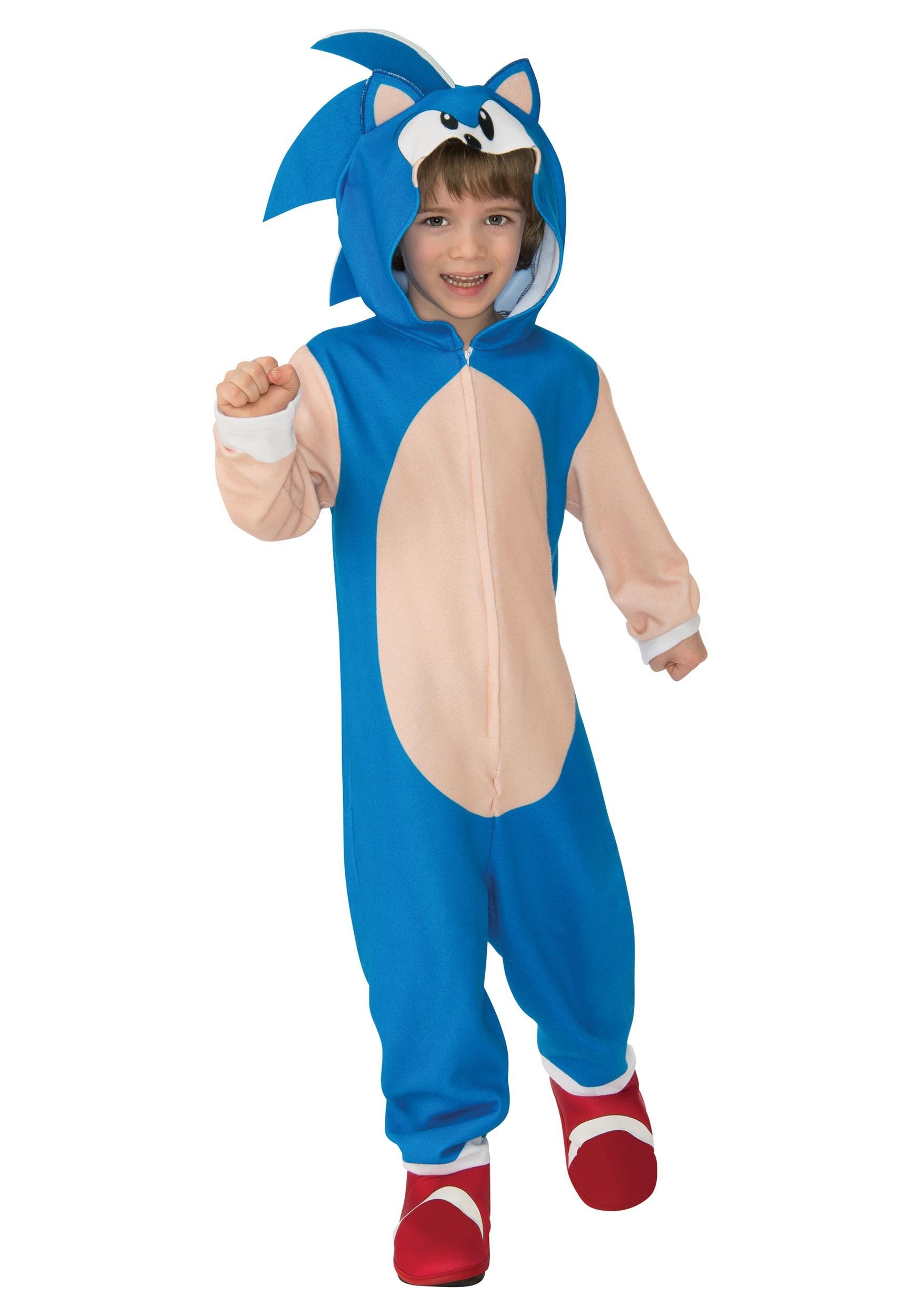 Kids Sonic The Hedgehog Hooded Costume