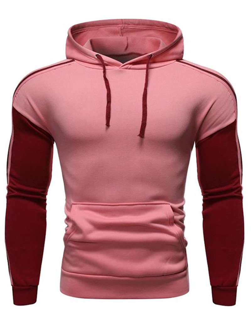 Ericdress Regular Color Block Slim Men's Pullover Hoodies