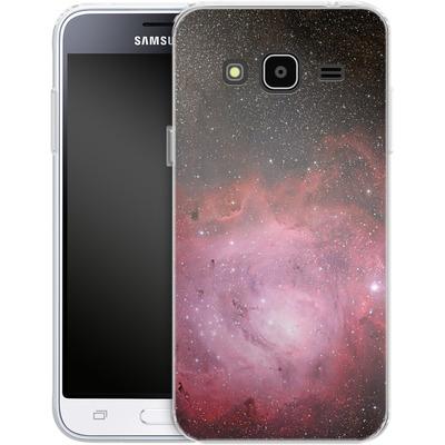 Samsung Galaxy J3 (2016) Silikon Handyhuelle - Pink Nebula von caseable Designs
