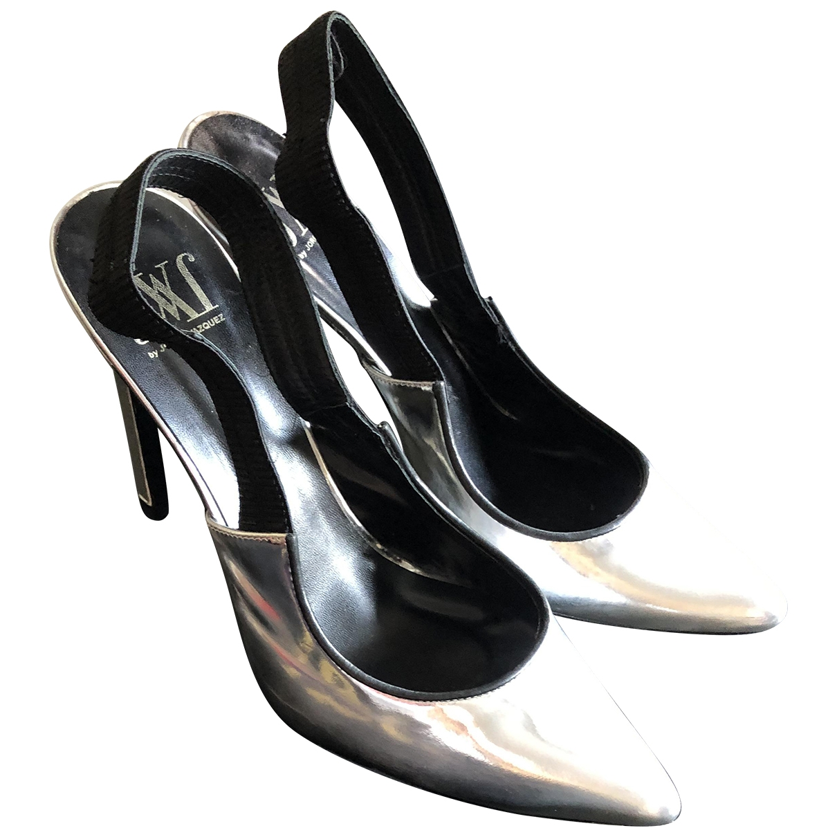 Non Signé / Unsigned \N Silver Patent leather Heels for Women 39 EU