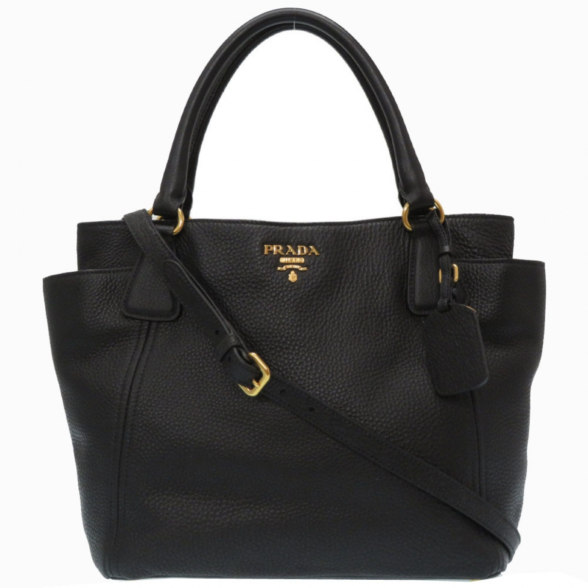 Prada \N Black Leather handbag for Women \N
