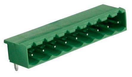 RS PRO , 9 Way, 1 Row, Right Angle PCB Terminal Block Header (10)