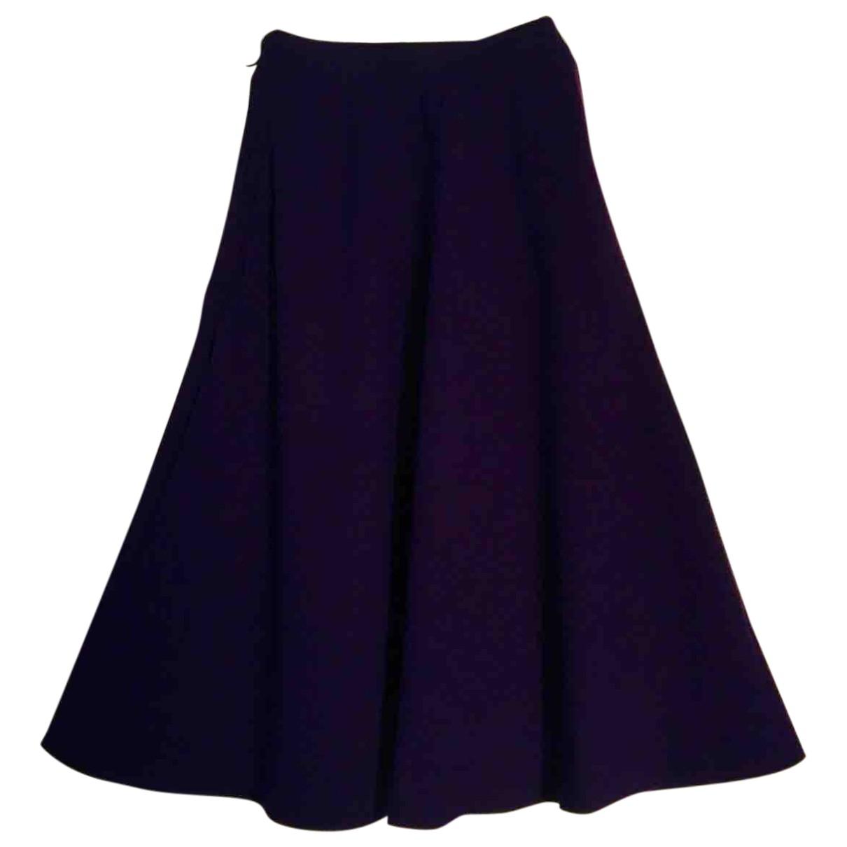Yves Saint Laurent \N Purple Wool skirt for Women 38 FR