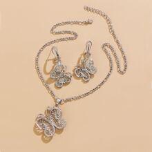 3pcs Butterfly Decor Jewelry Set
