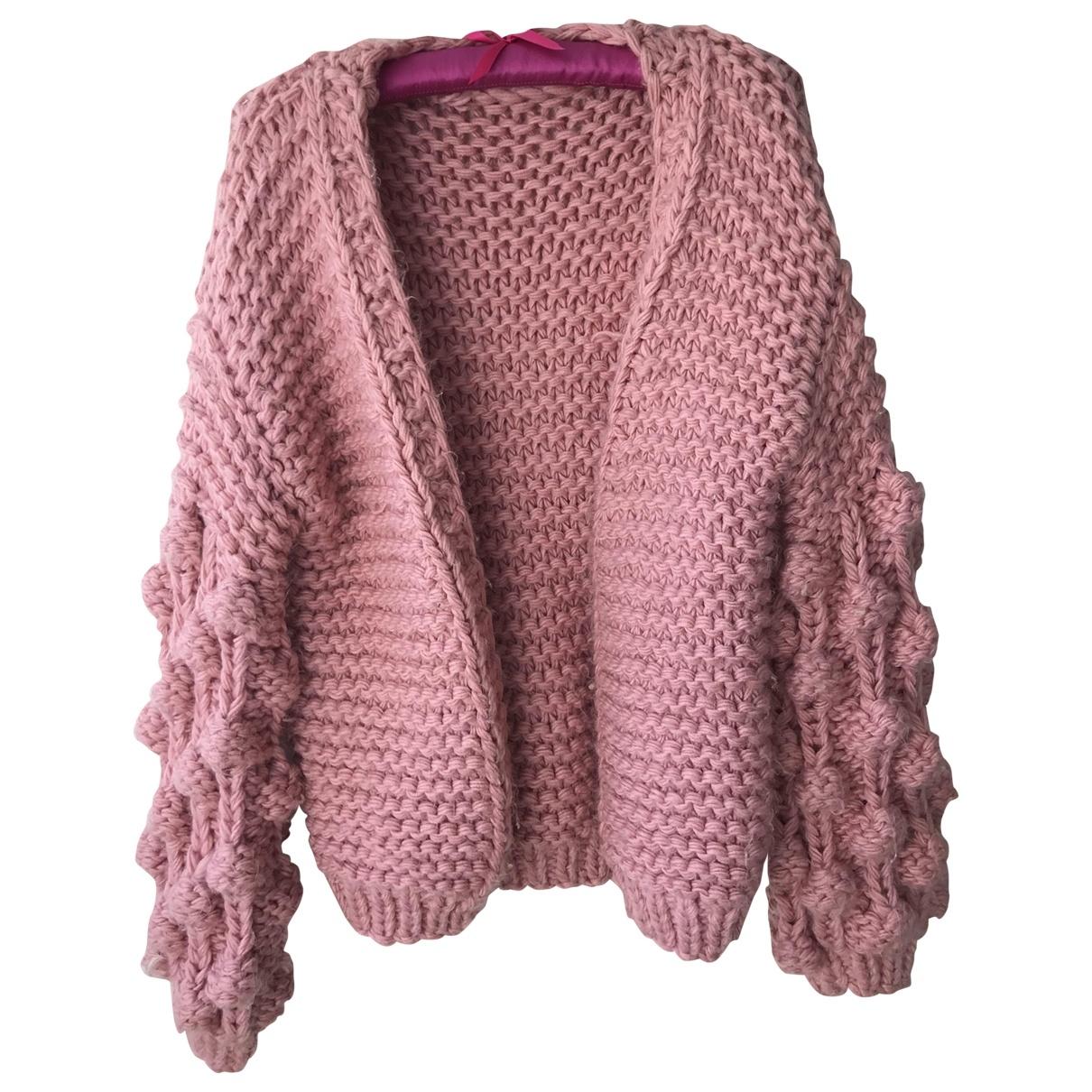 - Pull Oversize pour femme en laine - rose