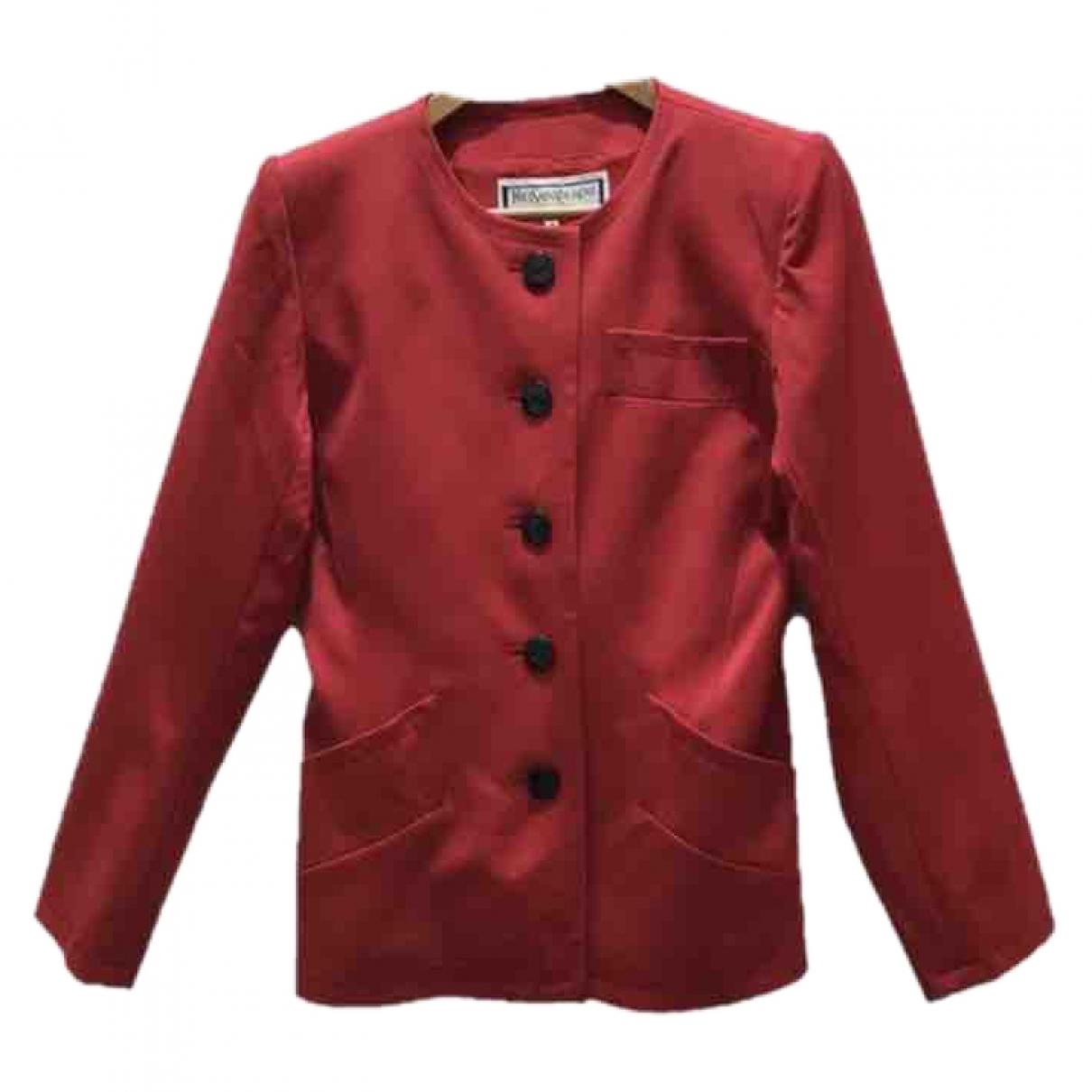 Yves Saint Laurent \N Red Wool jacket for Women S International