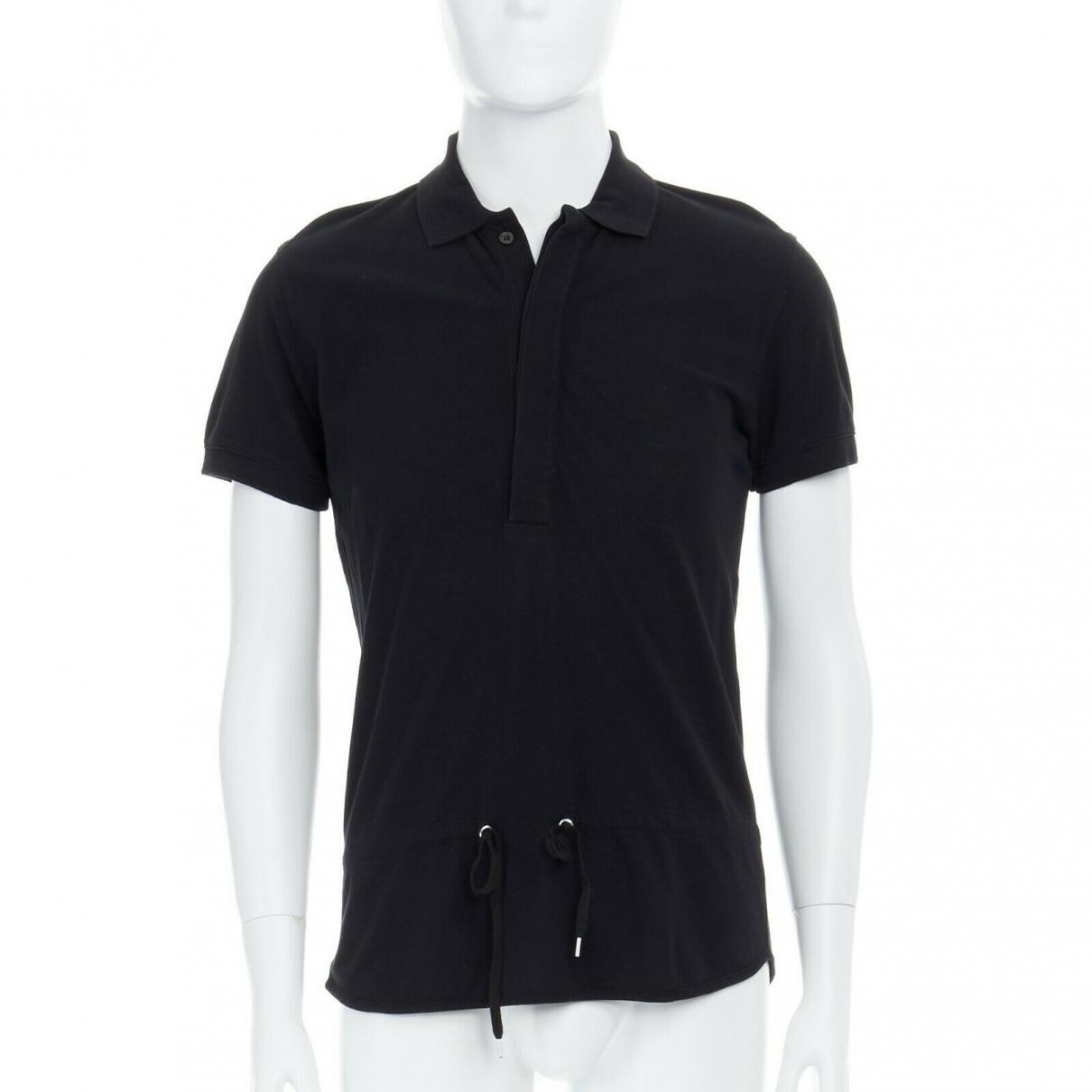 Kris Van Assche - Polos   pour homme en coton - noir