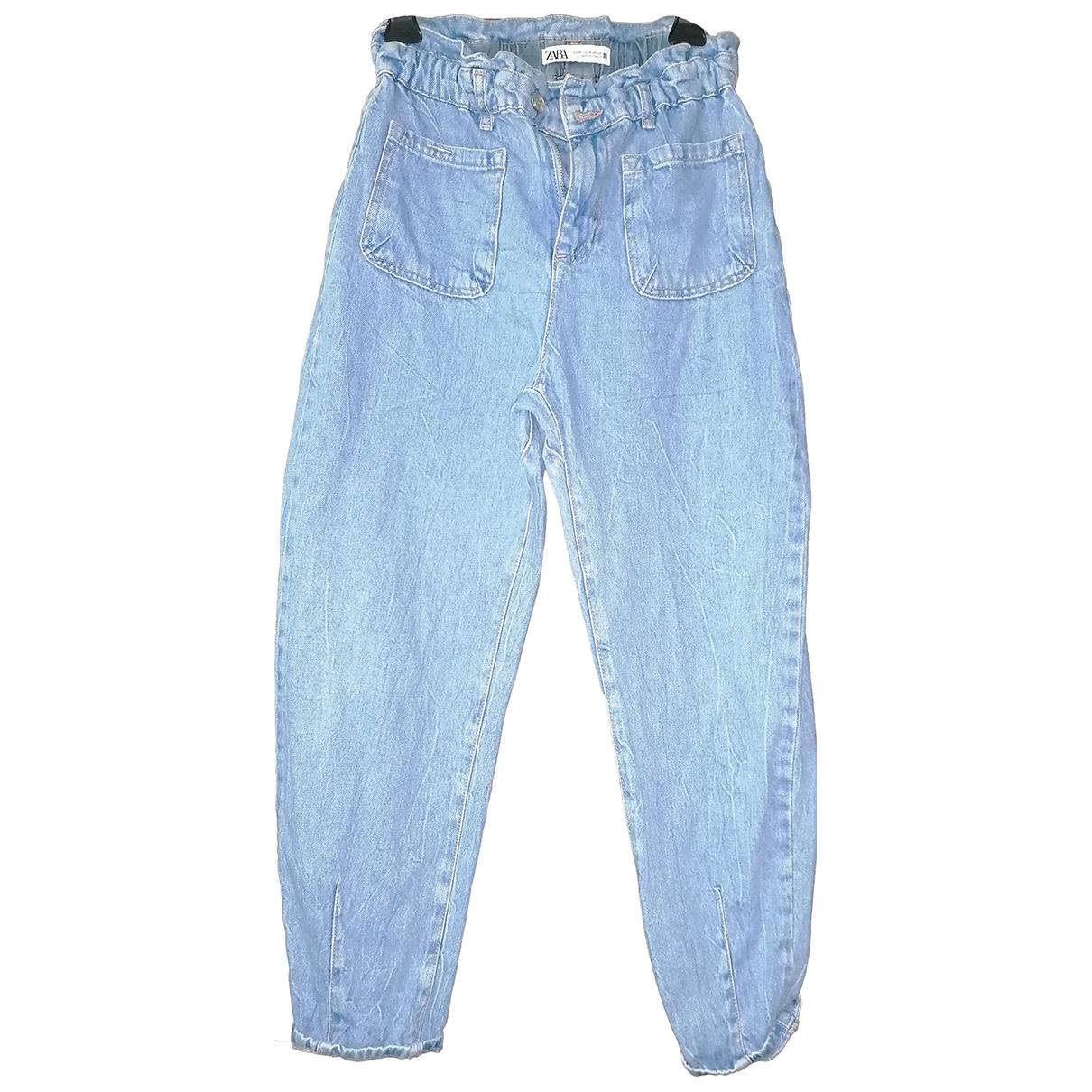 Zara N Blue Cotton Jeans for Women 34 FR