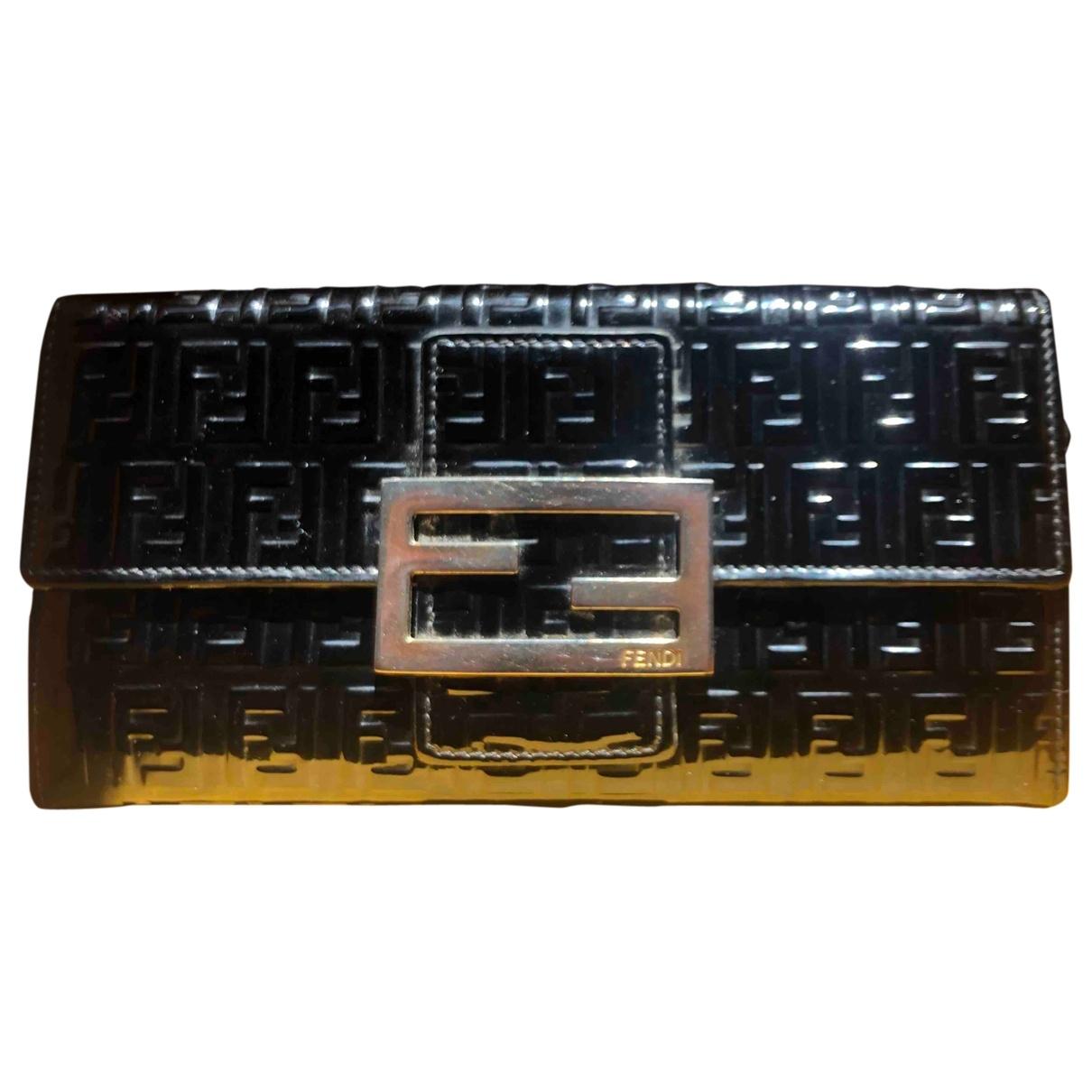 Fendi - Portefeuille   pour femme en cuir verni - noir