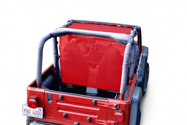 Steinjager J0043634 Tops, Fabric Teddy Wrangler TJ 1997-2006 Truckster Top Red