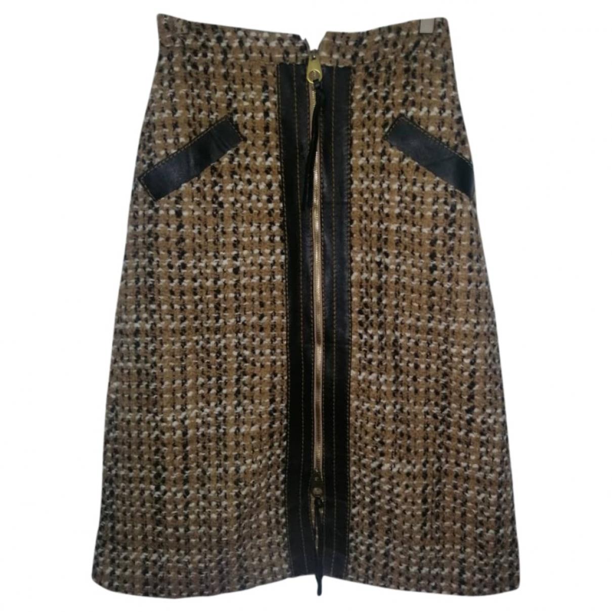 Agnona - Jupe   pour femme en laine - marron