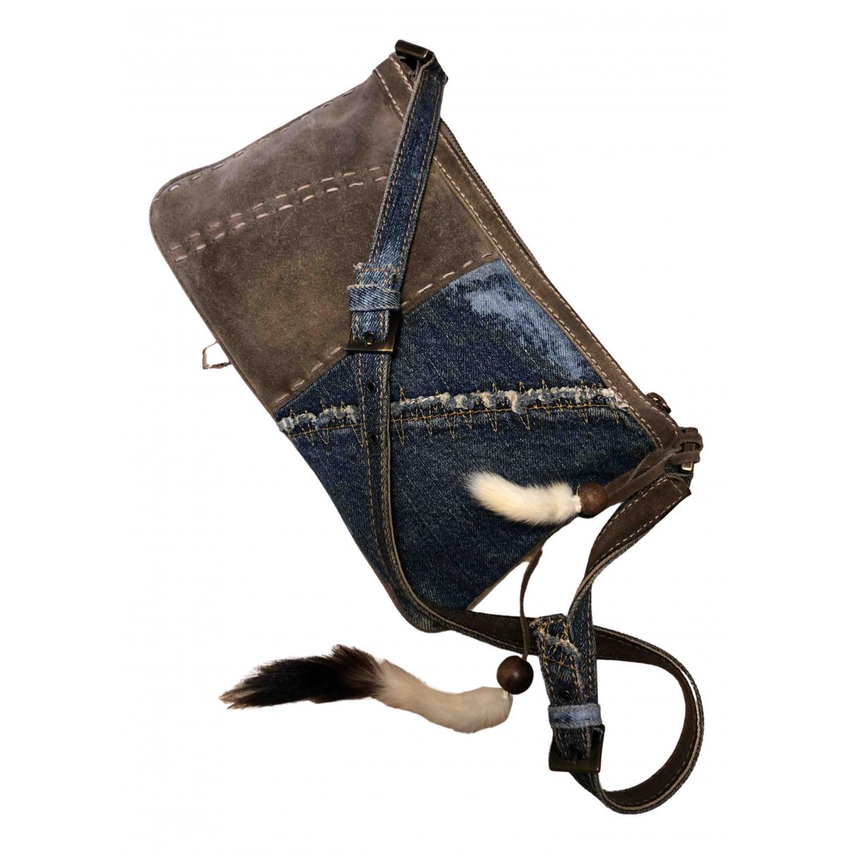Dolce & Gabbana N Blue Fur Clutch bag for Women N