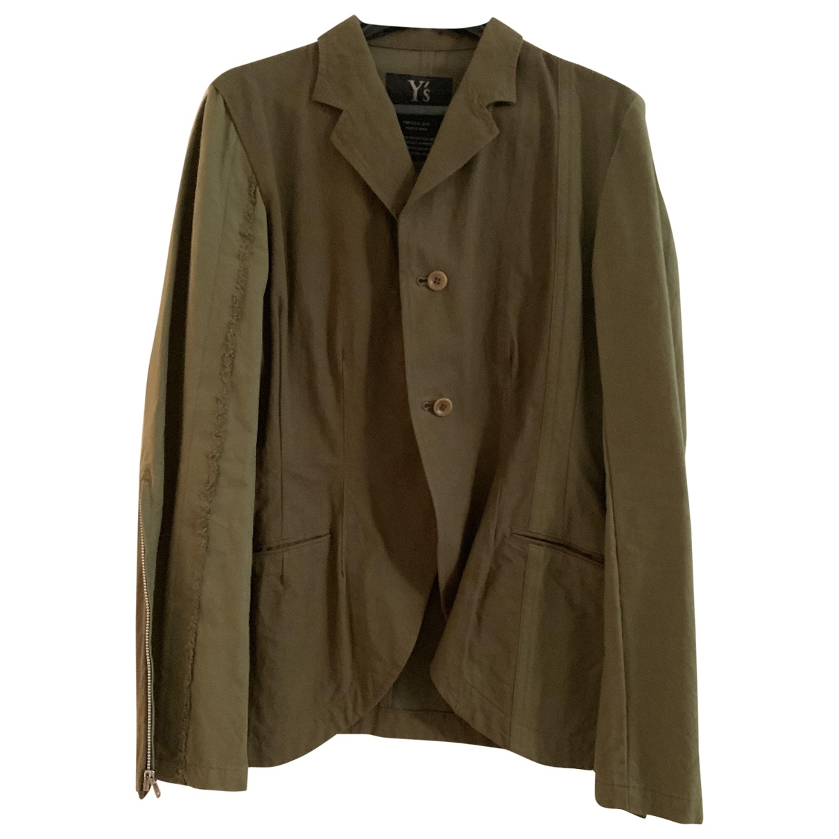 Yohji Yamamoto \N Khaki Cotton jacket for Women 38 FR
