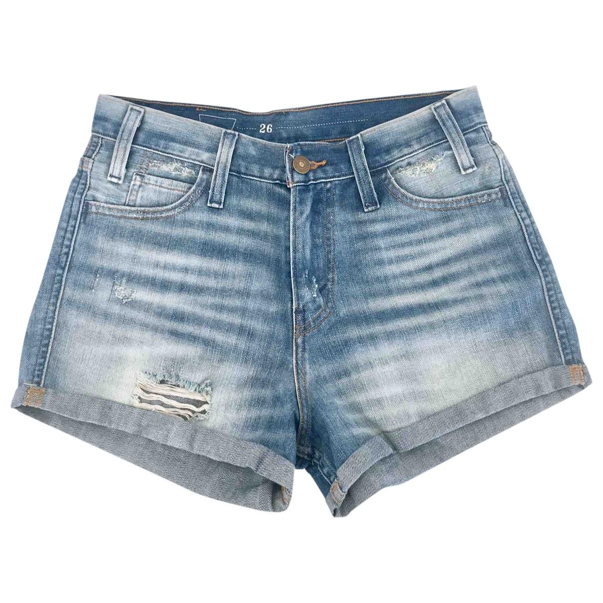 Levis - Short   pour femme en coton - bleu